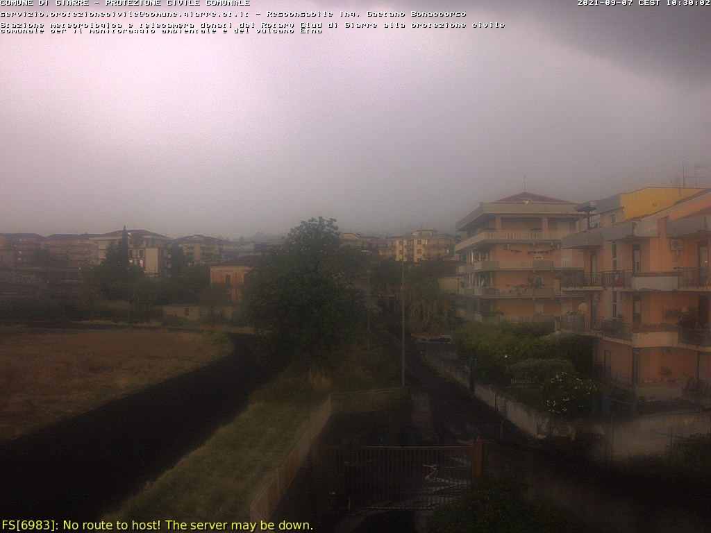 Webcam Etna Vulcano da Giarre CT Live webcamera